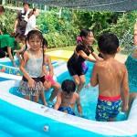 夏場はプール開放